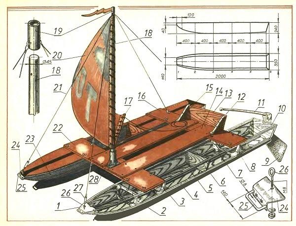Сделать катамаран или лодки