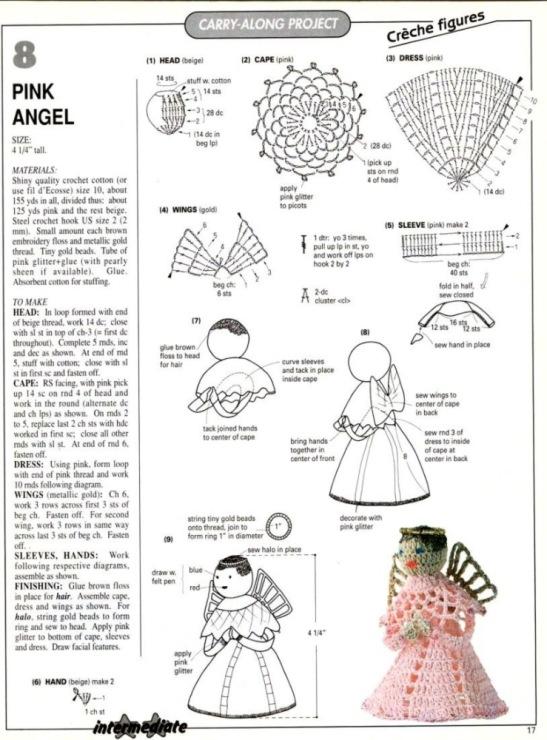 Как вязать крючком ангелочков схема
