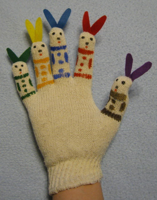 Заяц из перчатки как сделать