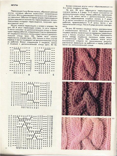 Вязание больших кос