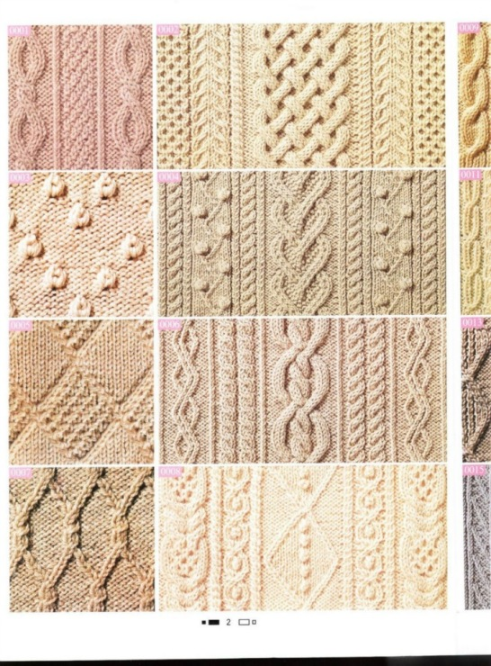 узор спицами араны плетенка