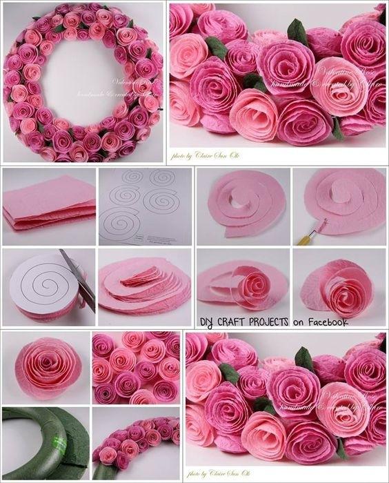 Сделай сам своими руками из бумаги розу