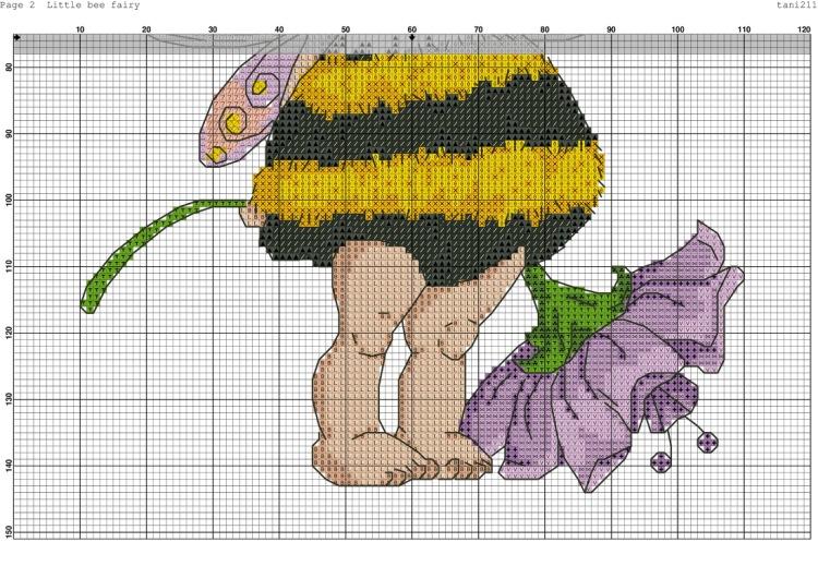 Вышивка крестиком схемы пчелок 5