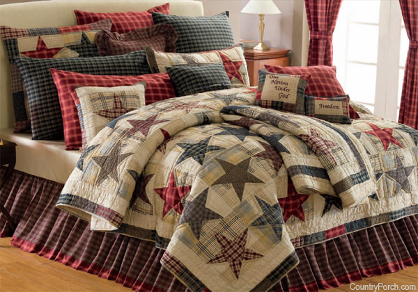Country bedding and curtains