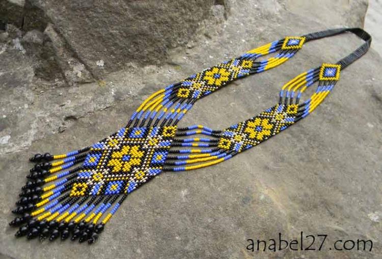 Плетем герданы из бисера
