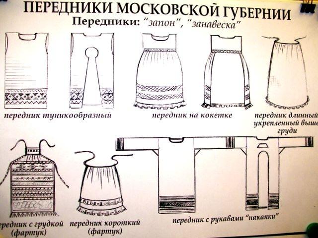 Передник русский сшить 28