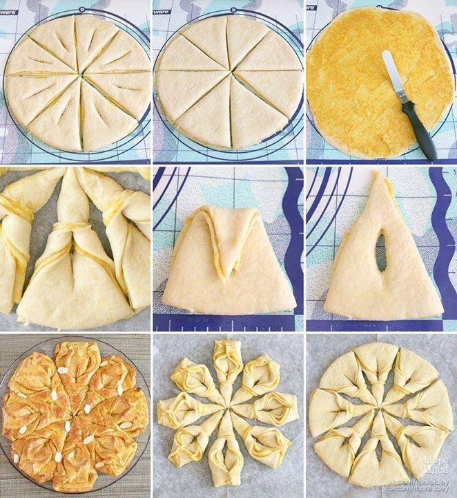 Рецепт булочек из слоеного теста пошаговое