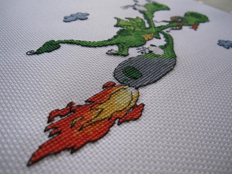 Змей горыныч схема вышивки 90