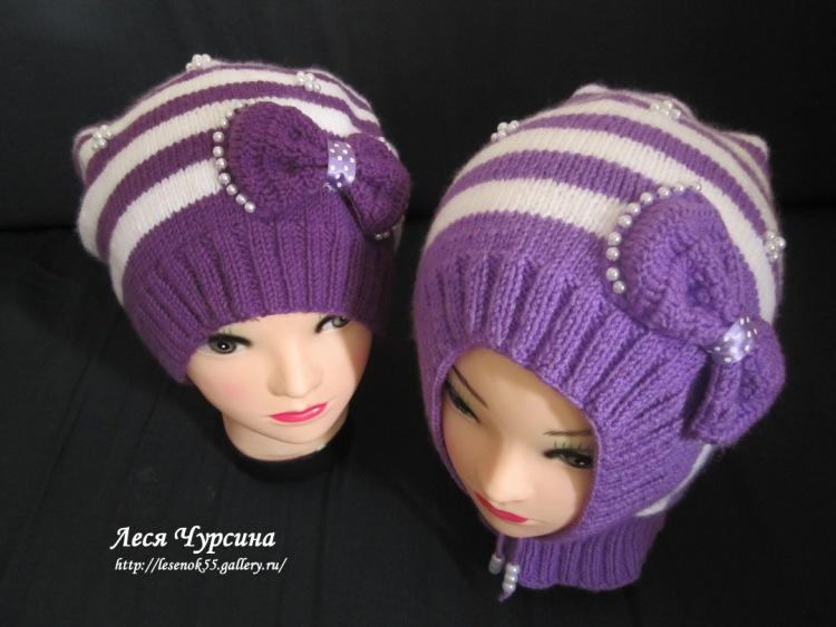 Вязание шапочек на маленьких девочек