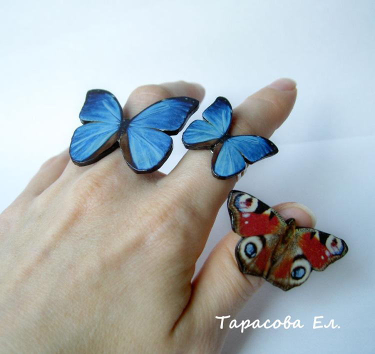 Поделки с бабочками из полимерной глины