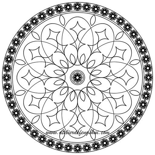 Круглые рисунки для точечной росписи
