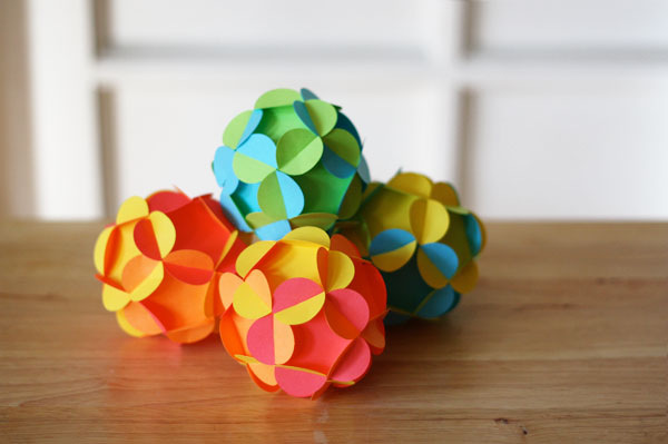 Поделки из бумаги шарики своими руками