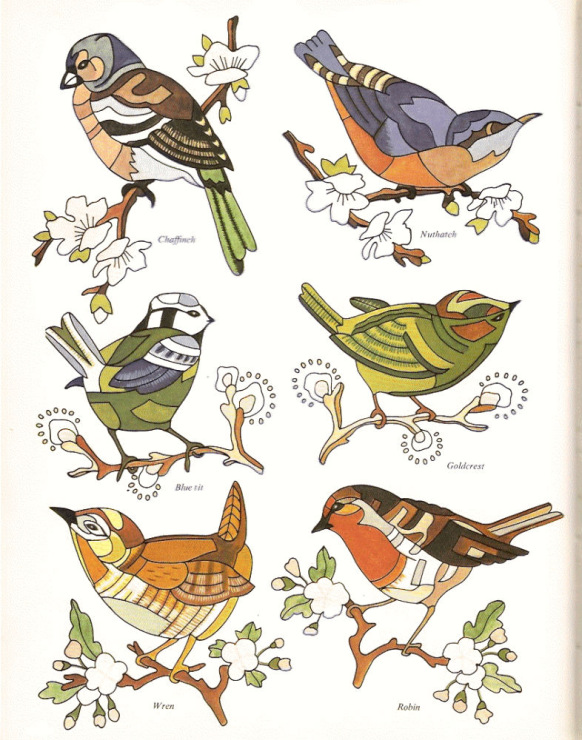 Птицы гладью схемы
