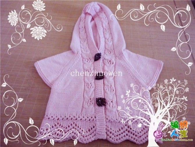 Вязание орнамента для детской кофточки
