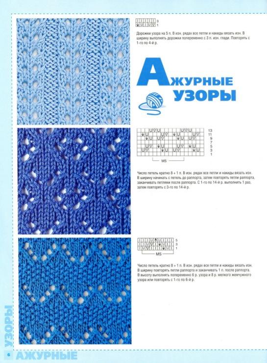 Журналы вязание на спицах узоры и схемы