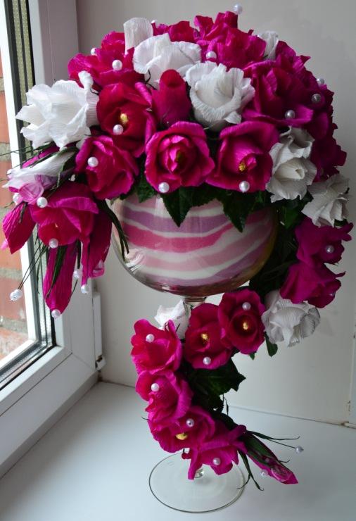Букеты из конфет своими руками в вазе