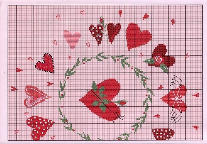 Вышивка крестиком схемы вышивки подушки 8