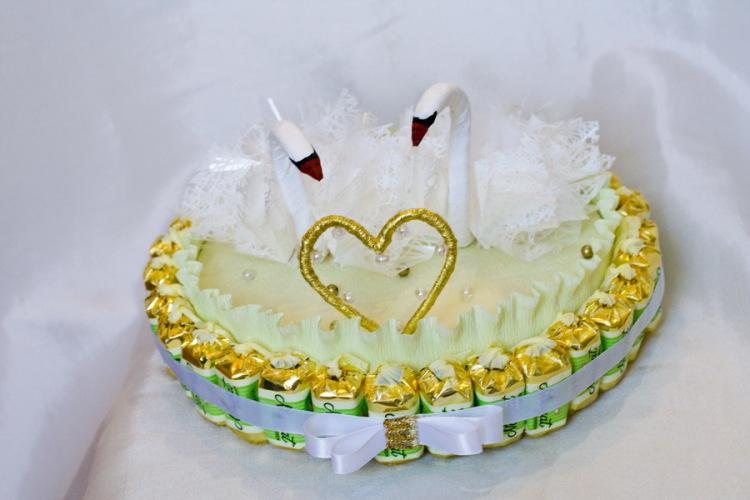 Торт для молодоженов своими руками