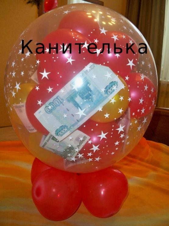 Фото подарок на шариках 14