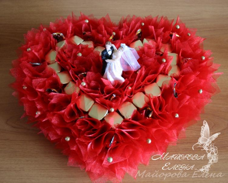 Свадебные букеты из конфет фото