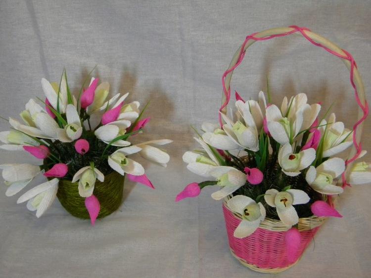 Цветы из конфет своими руками подснежники 57