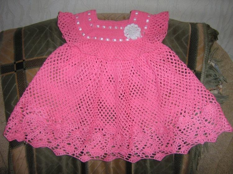 Платья для малышки связать крючком