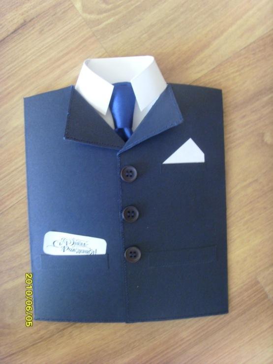 Рубашка и пиджак открытка