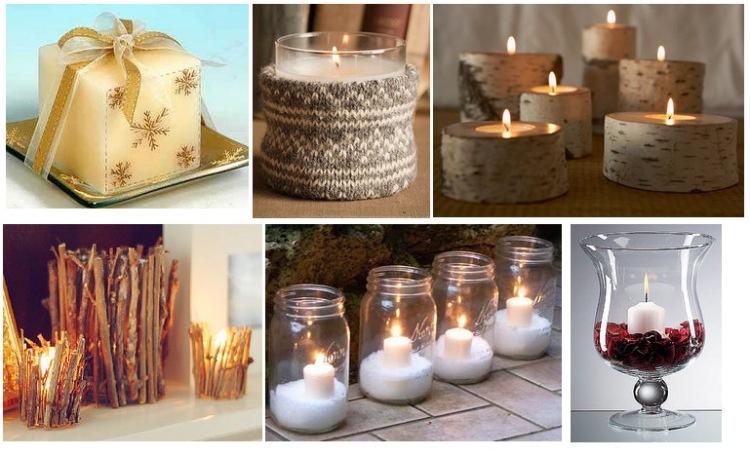 Как сделать новогоднюю свечу своими руками легко