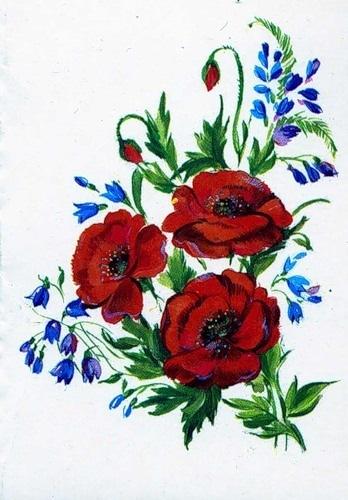 Рисуем открытку с цветами 819