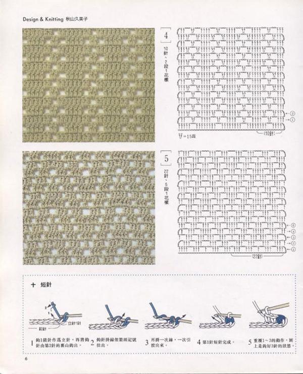Лёгкие узоры для вязания на крючком