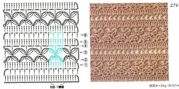 Вязание крючком ажурные полотна схемы