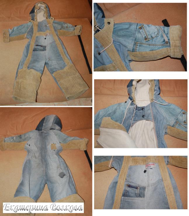 Как сшить комбинезон на девочку из старых джинсов 275