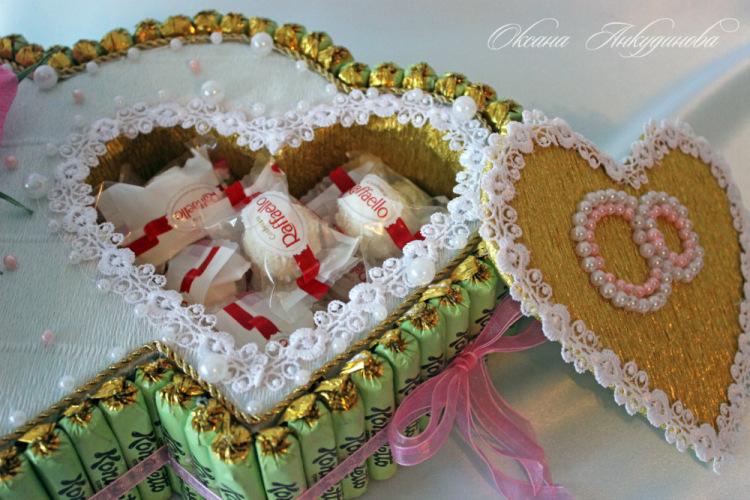 Торты из конфет на свадьбу