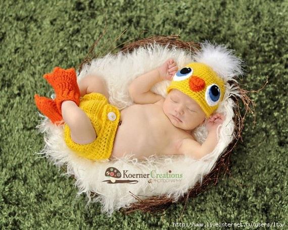 Как связать для новорожденного костюмчик шапочка