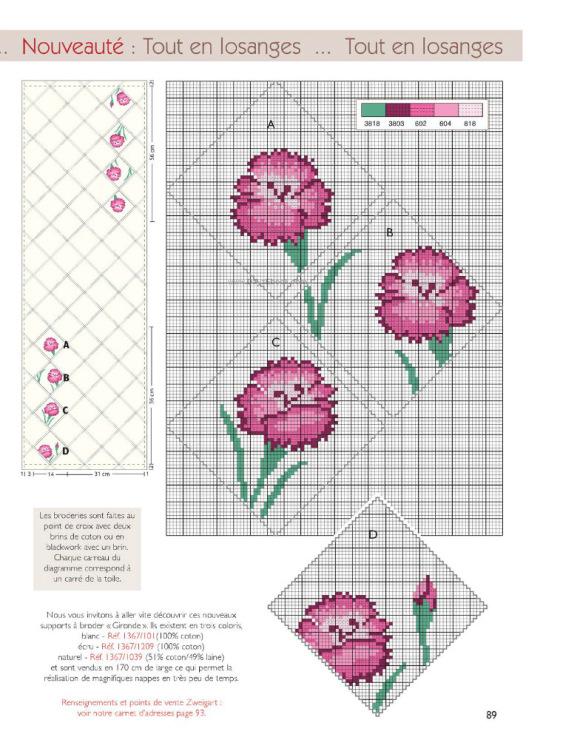 Схемы вышивки крестом для холщовой сумки 99