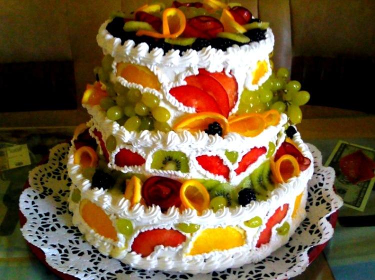 Трехэтажный торт своими руками на день рождения 73