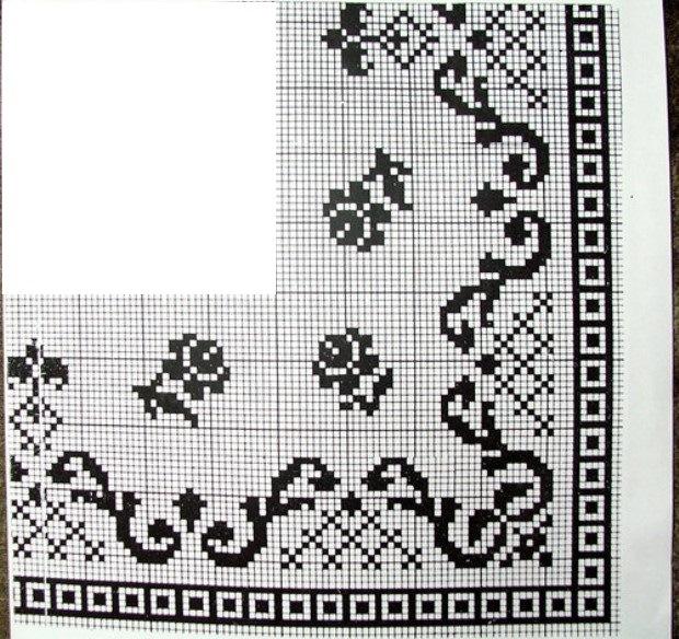 Схемы украинской вышивки для скатертей
