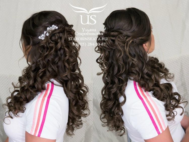 Прически с гребнем для длинных волос