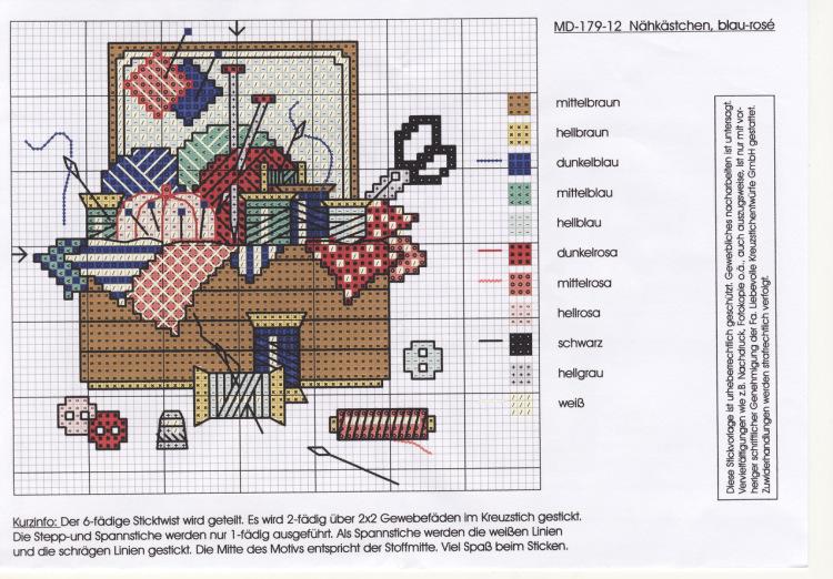 Вышивка крестом коробочка схем 70