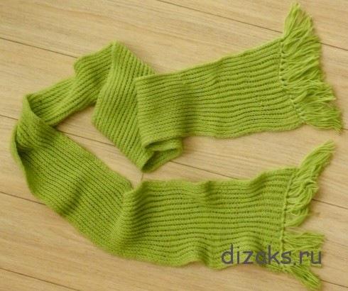Как связать шарф резинкой 1х1